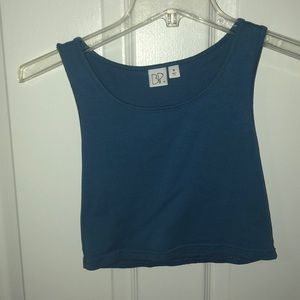 blue BP cropped tank